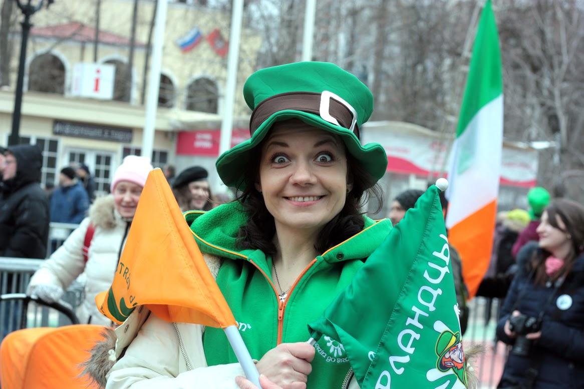 Ирландцы на параде в Сокольниках
