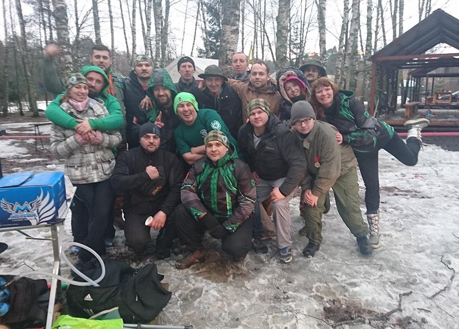 Пейнтбольная Команда Ирландцы на пост-игровых шашлычках